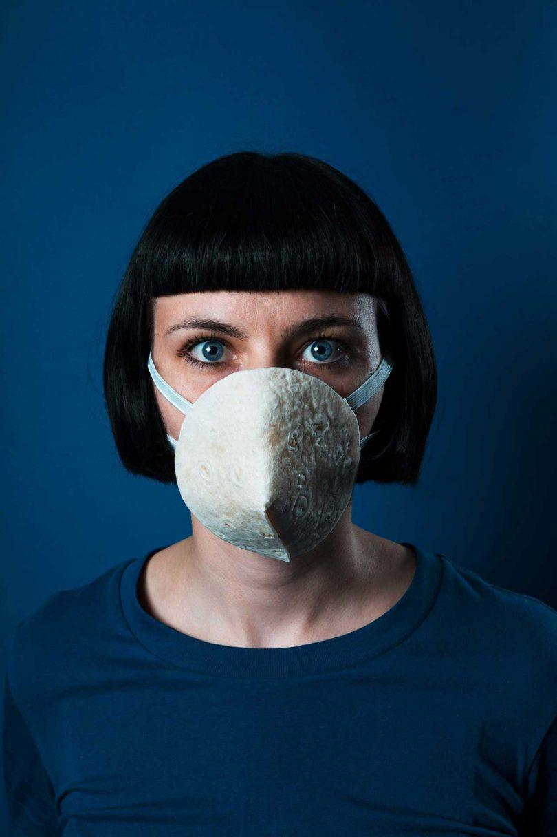 Corona Food Masks Portrait Series by hej studio Best Children's Lighting & Home Decor Online Store