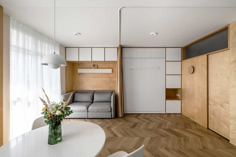 A Cozy Studio Apartment in Rivne With a Murphy Bed Best Children's Lighting & Home Decor Online Store