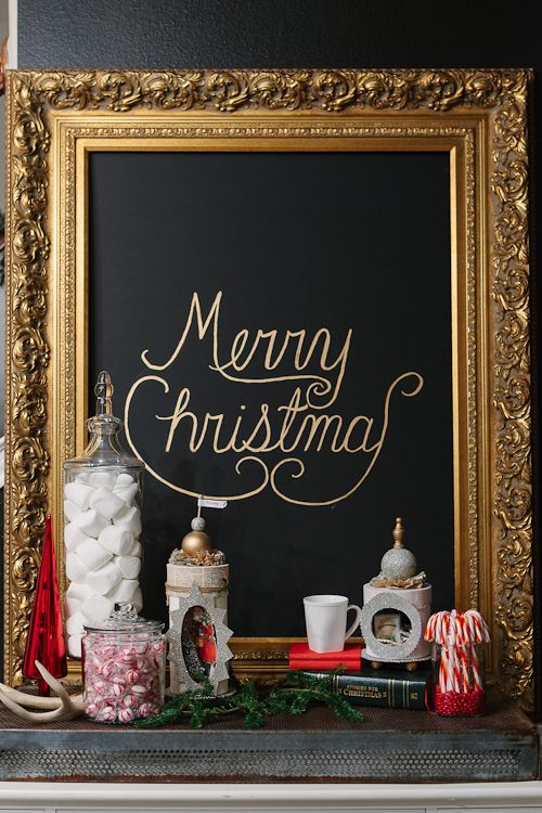 Gorgeous Glam Christmas Decor With Gold Ornaments, Black Stockings, Striped Black And White Gifts And Lights Is Chic