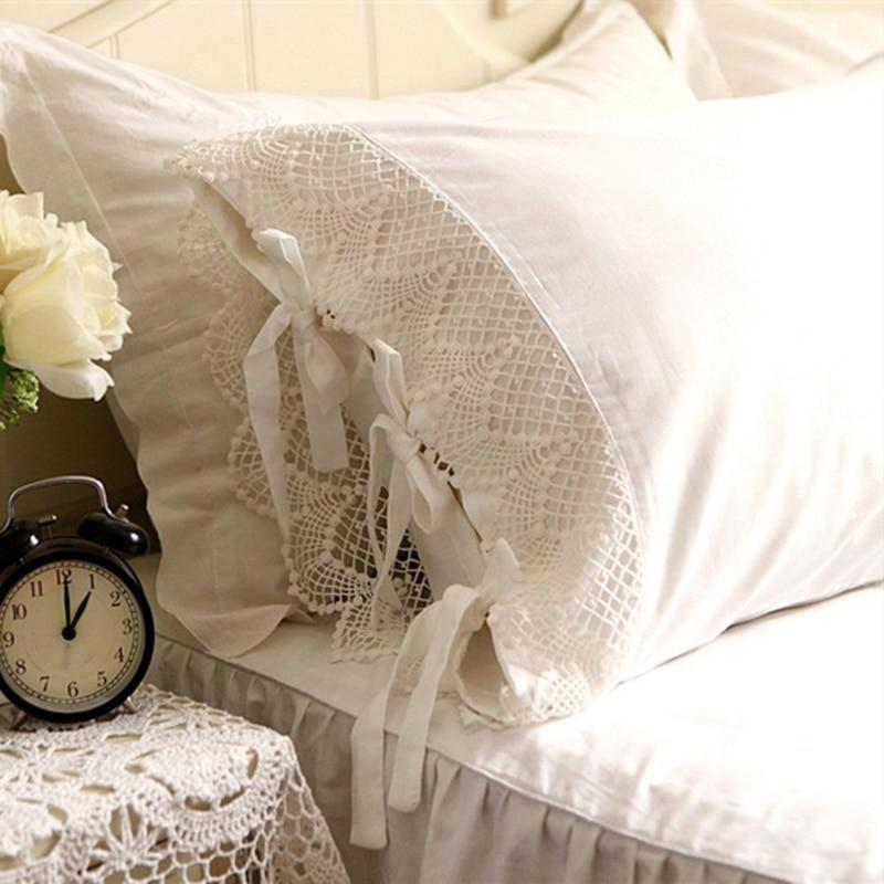 Crochet Lace Cotton Princess Pillow Cover