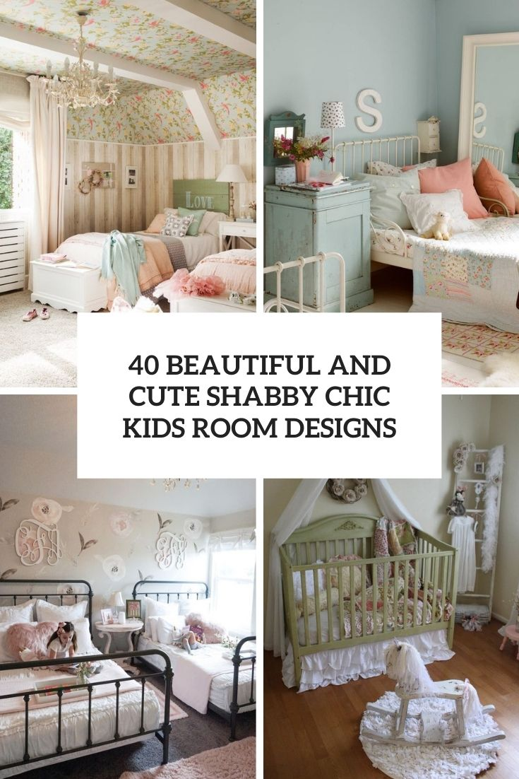 beautiful and cute shabby chic kids room designs cover