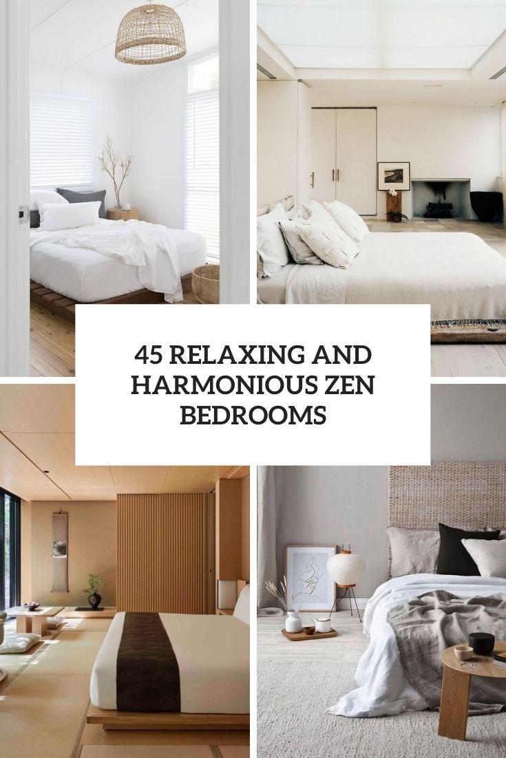 relaxing and harmonious zen bedrooms cover
