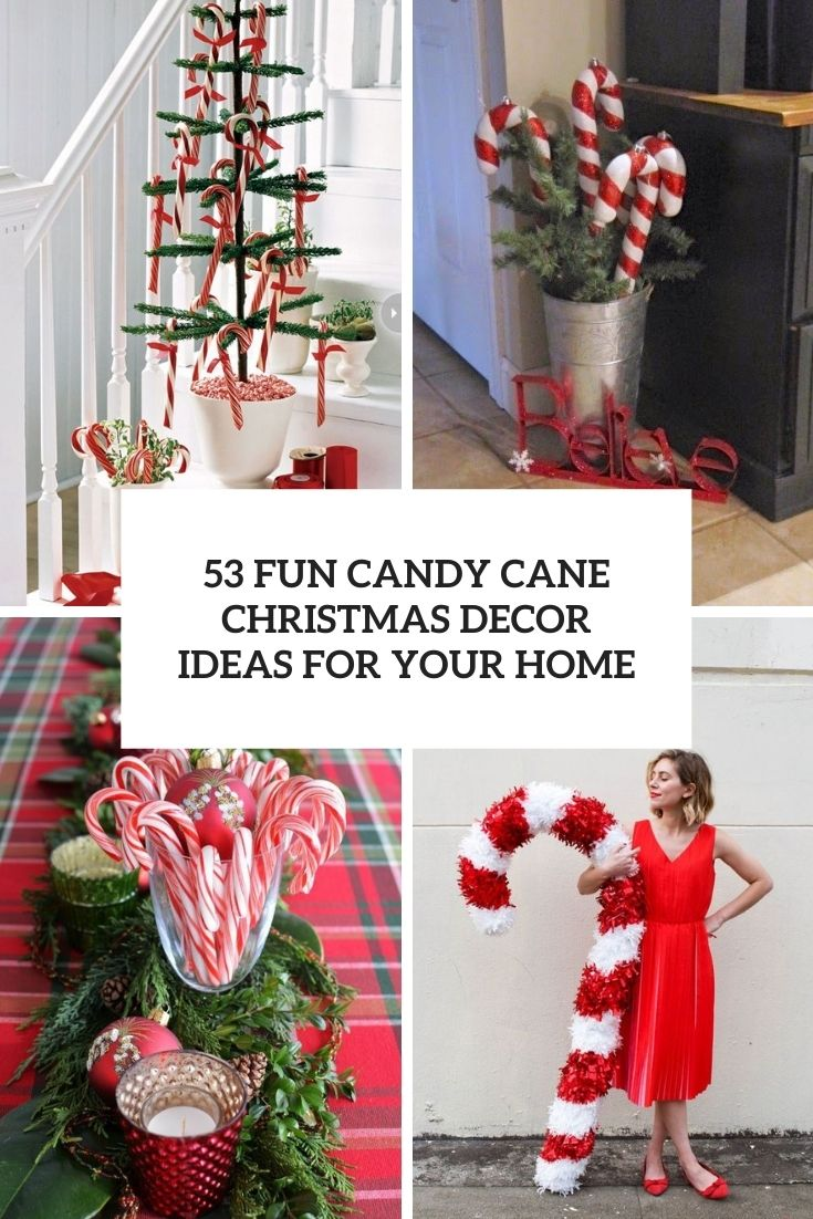 fun candy cane christmas decor ideas for your home cover