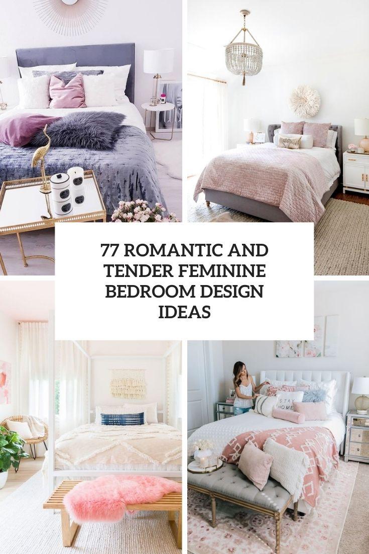 romantic and tender feminine bedroom design ideas cover