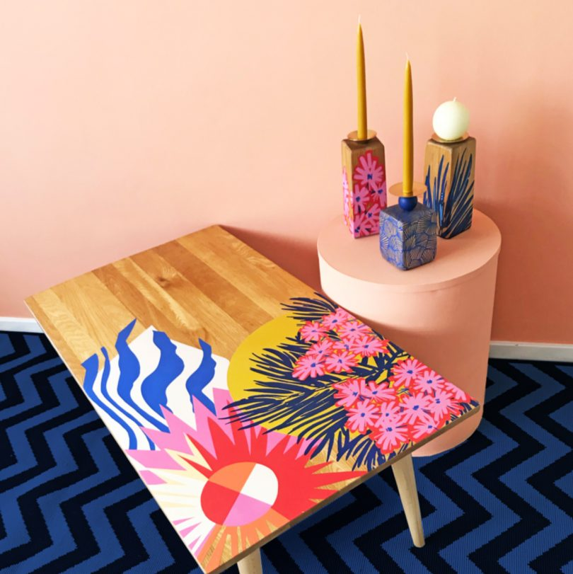 Zoe Murphy Turns Unloved Furniture, Wood and Textiles into Vibrant Home Accessories Best Children's Lighting & Home Decor Online Store