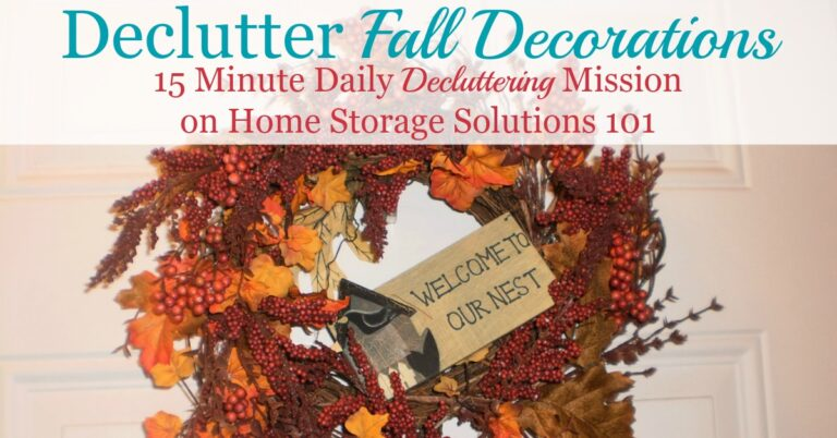 How To Declutter Fall Decorations
