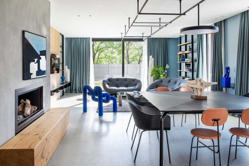 Take Time Is A Home Near Brescia Filled With Hues Of Blue And Grey