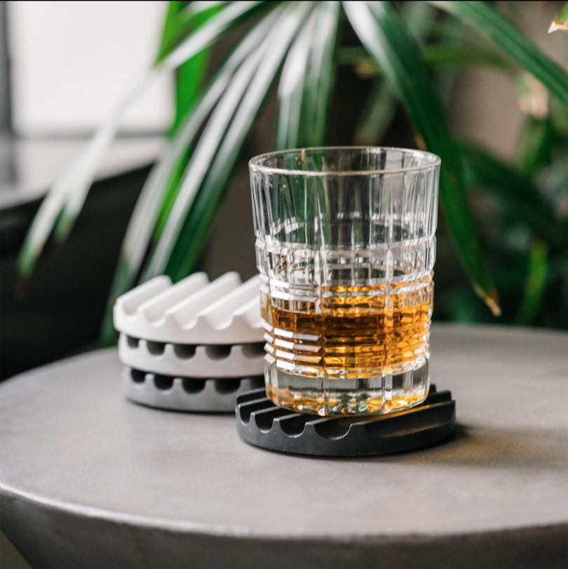 Glass And Set Of Coasters