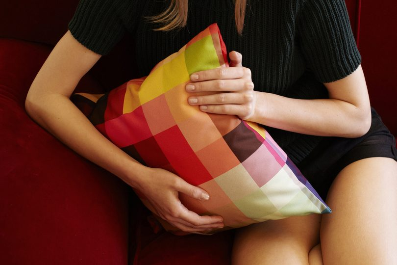 Person Holding Pillow