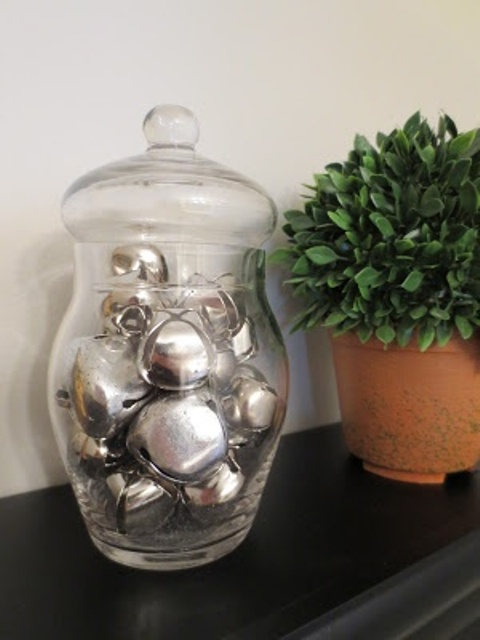 A Glass Jar With A Lid Filled With Large Silver Bells Is A Cute Christmas Decoration To Rock And It Can Be Made Last Minute