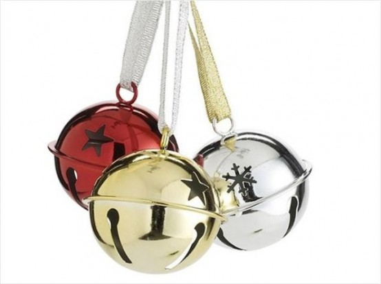 A Trio Of Bells - Silver, Red, Gold Is A Lovely Holiday Decor Idea That Can Be Used Anywhere For A Festive Eel