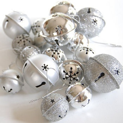 Silver And Silver Glitter Bells Can Be Used Throughout Your Home For Christmas Decor - They Brilliantly Bring The Spirit In