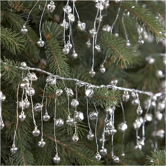 Garlands Of Tiny Silver Bells Are Amazing To Decorate Your Christmas Tree And You Can Also Hang Them Somewhere Else, Too