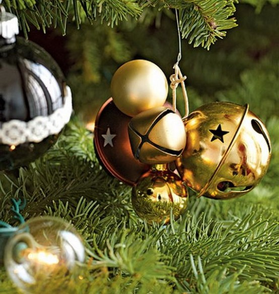 Gold And Burgundy Christmas Ornaments And Bells Are Amazing For Holiday Decor - Use Them As Ornaments Or Just Hangings