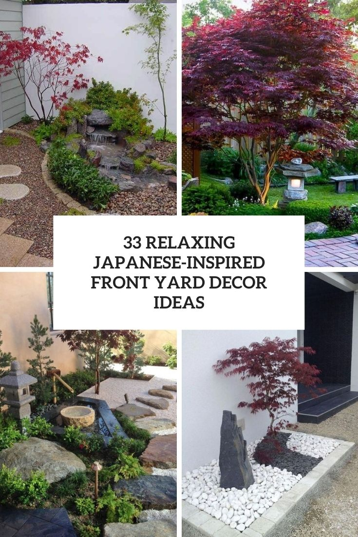 relaxing japanese inspired front yard decor ideas cover