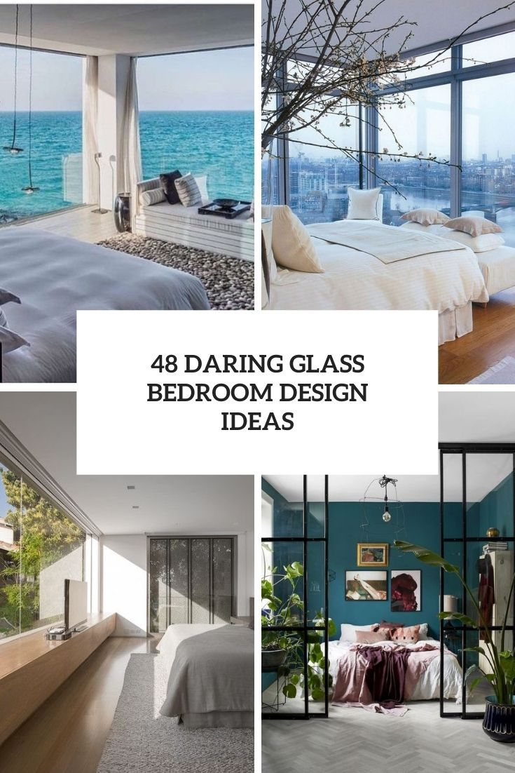 daring glass bedroom design ideas cover