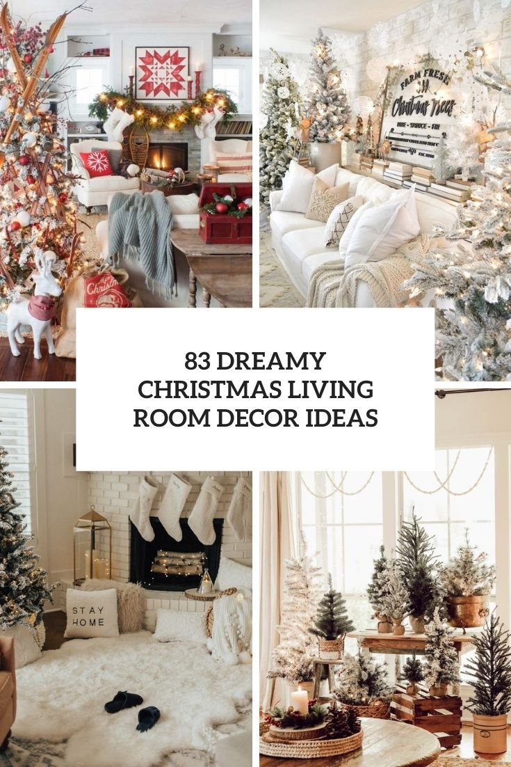dreamy christmas living room decor ideas cover