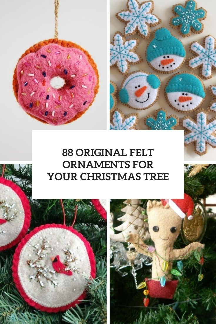 original felt ornaments for your christmas tree cover