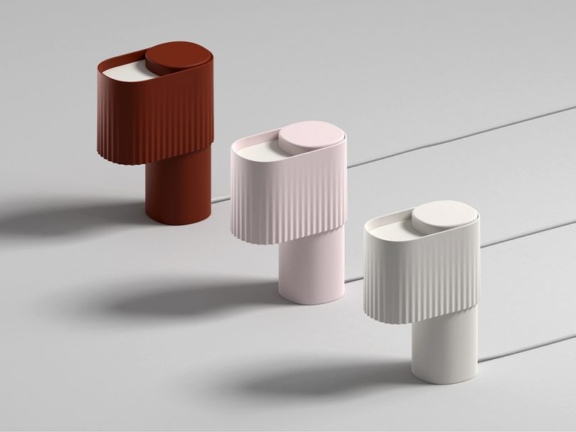 trio of table lamps