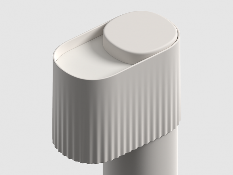 white table lamp detail