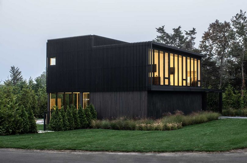 A Sag Harbor Hideaway With Black Slats Creating Privacy + Shade Screens Best Children's Lighting & Home Decor Online Store