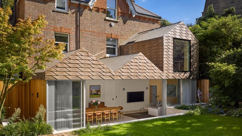 gabled roofs are perfect to cover a house's extension