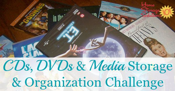 Week #48 Organized Home Challenge CD and DVD Storage and Organization