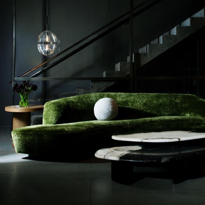 Holy Hunt Green Sofa