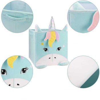Unicorns Storage Bucket Box Case