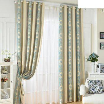 Color Splicing Chenille Window Curtain Best Children's Lighting & Home Decor Online Store