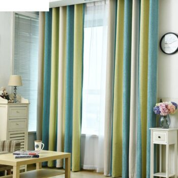Color Splicing Blackout Window Curtain Best Children's Lighting & Home Decor Online Store
