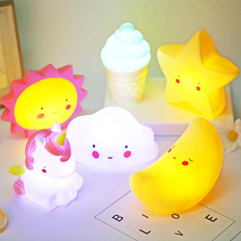 Cute Smiley Clouds Stars Moon Glow Night Light Best Children's Lighting & Home Decor Online Store