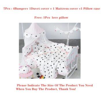 Baby Bedding Set Crib Bumper -7Pcs