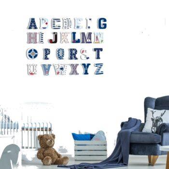 3D Children Marine Sailor Wall Sticker Letters Best Children's Lighting & Home Decor Online Store