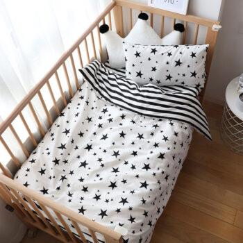Nordic Striped Star Crib Bedding Set With Bumper Best Children's Lighting & Home Decor Online Store