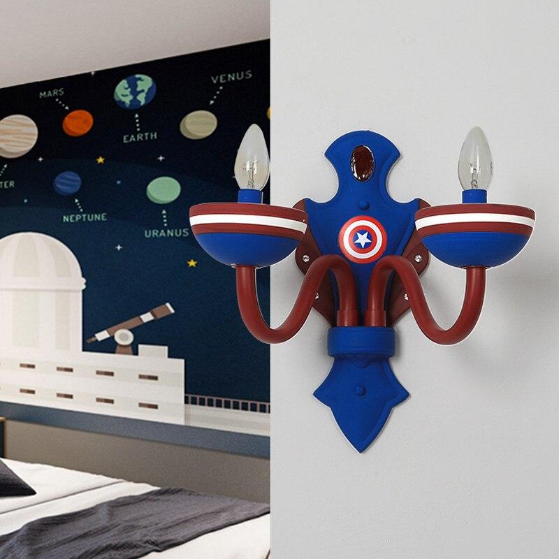 Captain America Led Wall Lamp Best Children's Lighting & Home Decor Online Store