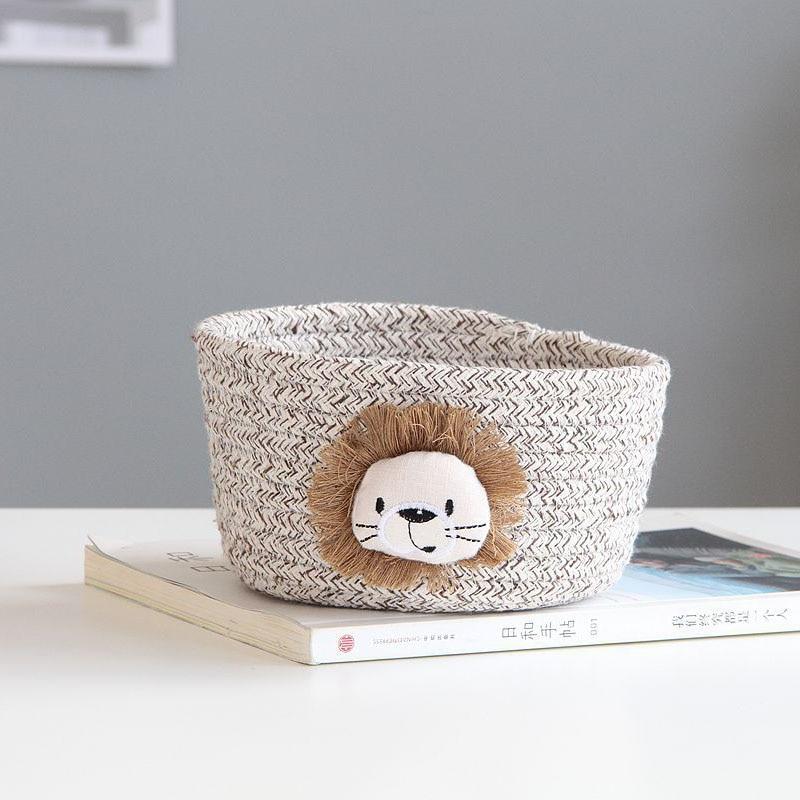Cartoon Animals Hand Woven Storage Basket Best Children's Lighting & Home Decor Online Store