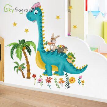 Cartoon Dinosaur Buddies Wall Stickers