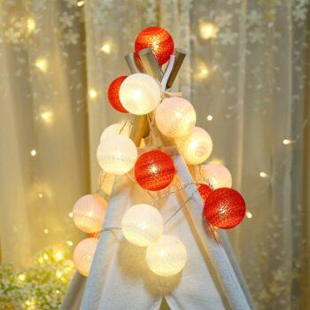 Cotton Ball Light String
