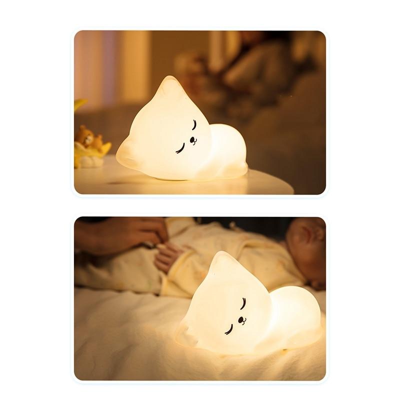Cute Cat Led Night Light Lamp
