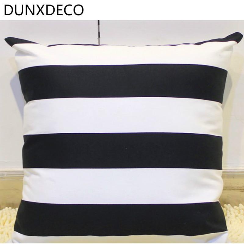 Modern Classical White Black Stripe Cushion Cover Best Children's Lighting & Home Decor Online Store