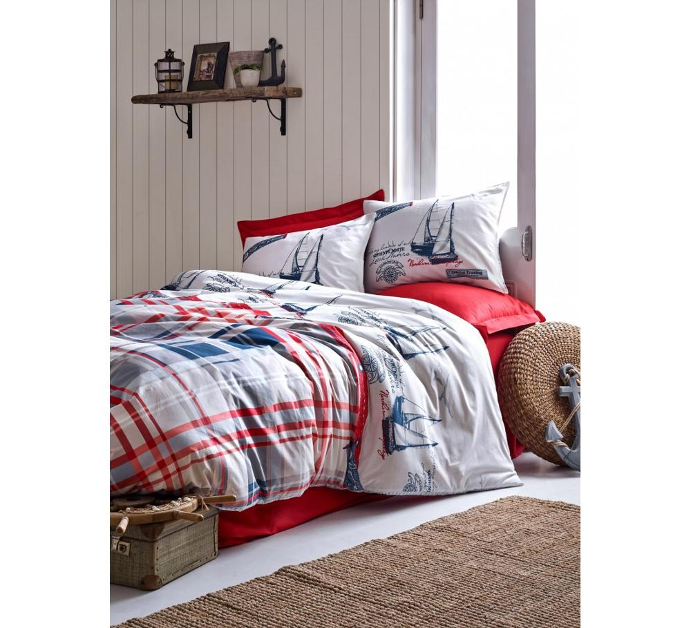 Turkish Cotton Red Ship Bedding Set Best Children's Lighting & Home Decor Online Store