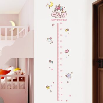 Pink Unicorn Starry Girl's Height Measure Wall Stickers for Kids Best Children's Lighting & Home Decor Online Store