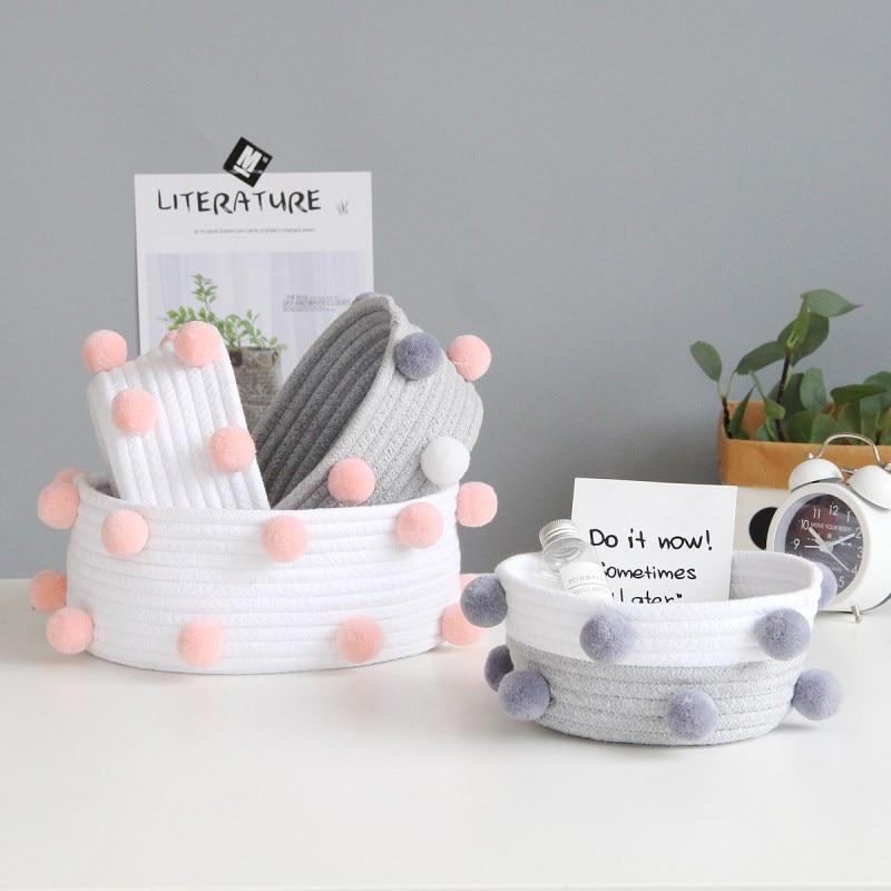 Handmade Woven Rope Storage Baskets Best Children's Lighting & Home Decor Online Store