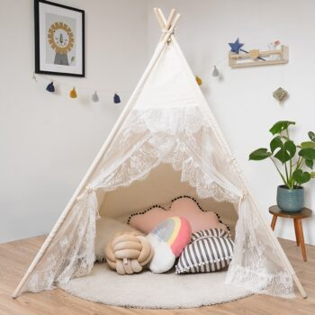 Kids Lace Teepee Play Tent Best Children's Lighting & Home Decor Online Store