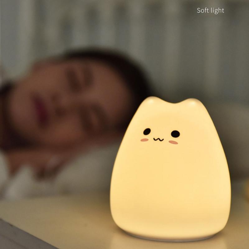 Rechargeable Cat LED Night Light Lamp Best Children's Lighting & Home Decor Online Store