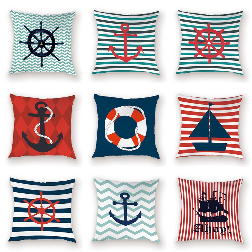 Sea Nautical Conch Ocean Sea Cushion Cover Best Children's Lighting & Home Decor Online Store