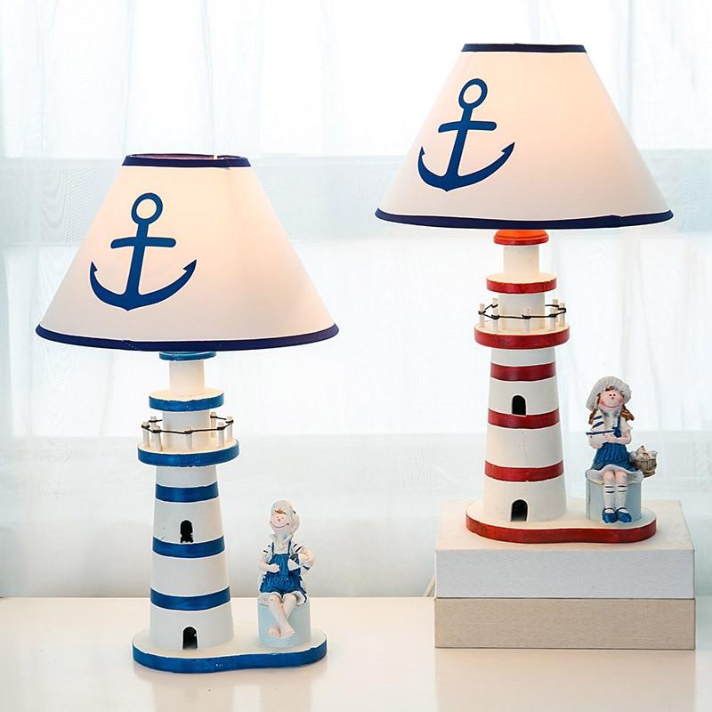 Mediterranean Style Wooden Lighthouse Lamp Best Children's Lighting & Home Decor Online Store