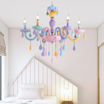 Multi Color Italian Crystal Chandelier