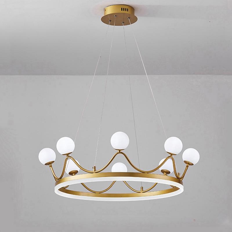 Nordic Led Luxury Crown Pink Chandelier Best Children's Lighting & Home Decor Online Store